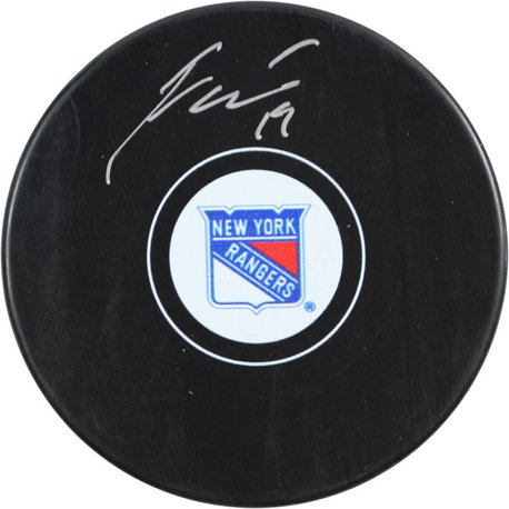 New York Rangers Jesper Fast signed Puck - JAG Sports Marketing