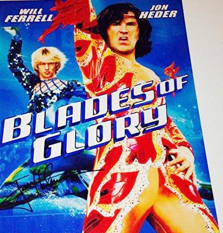 "Jon Heder Autographed11x14 ""Blades of Glory"" Movie Poster - JAG Sports Marketing"