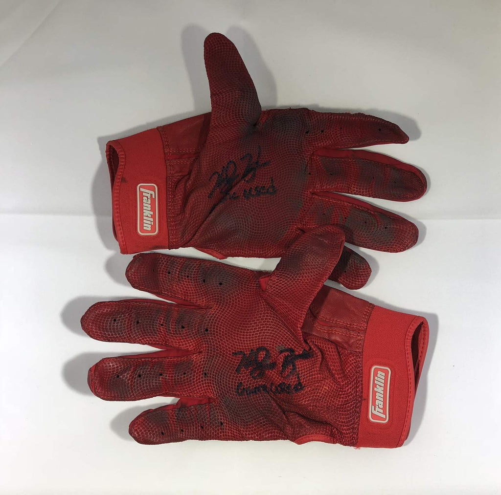 Ke'Bryan Hayes autographed Game Used Gloves MLB Pittsburgh Pirates LOA - JAG Sports Marketing