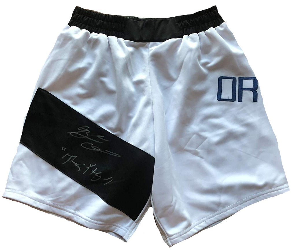 Brian Ortega autographed inscribed trunks UFC T-City w/COA - JAG Sports Marketing