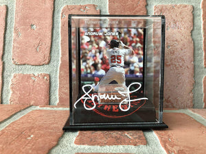 Andruw Jones autographed in white ink authentic dirt stand MLB Atlanta Braves PSA COA - JAG Sports Marketing