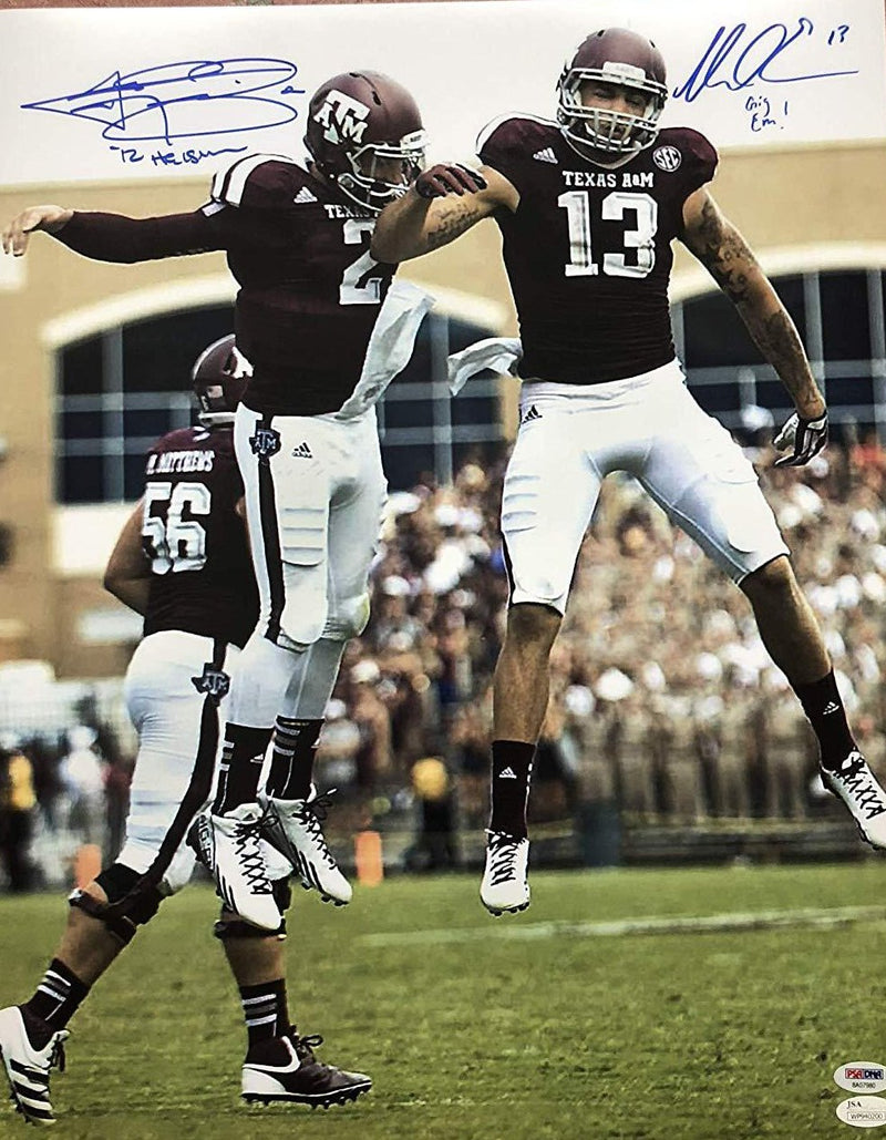 Johnny Manziel Mike Evans autograph signed 16x20 photo inscribed NCAA Texas A&M Aggies JSA - JAG Sports Marketing