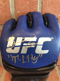Brian Ortega autographed inscribed T-City glove UFC PSA w/COA - JAG Sports Marketing
