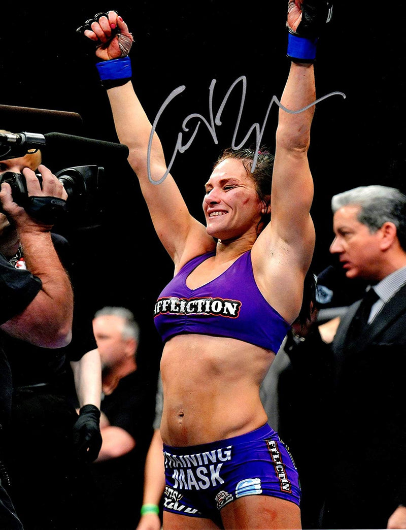 UFC Superstar Cat Zingano signed 8x10 photo - JAG Sports Marketing