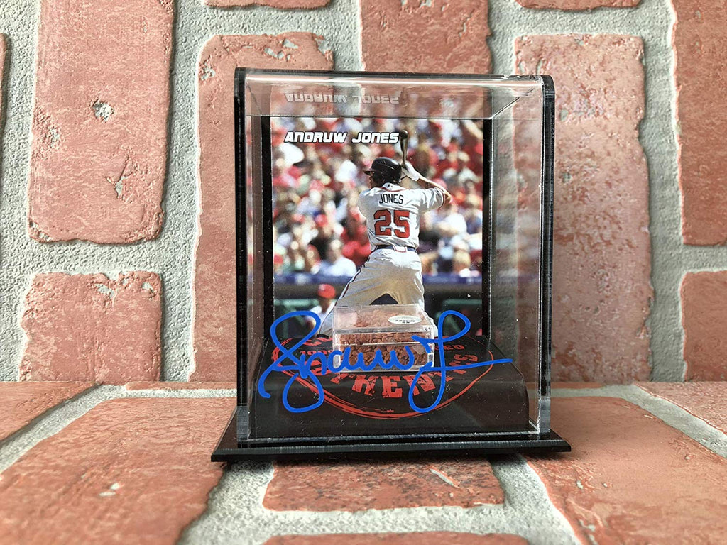 Andruw Jones autographed authentic dirt stand MLB Atlanta Braves PSA COA - JAG Sports Marketing