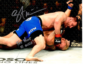 "UFC Champion Stipe Miocic Signed 8x10 photo Inscribed ""The Hunt Is Over"" - JAG Sports Marketing"