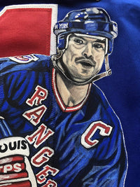 Mark Messier autographed signed jersey New York Rangers Steiner Hand Painted - JAG Sports Marketing