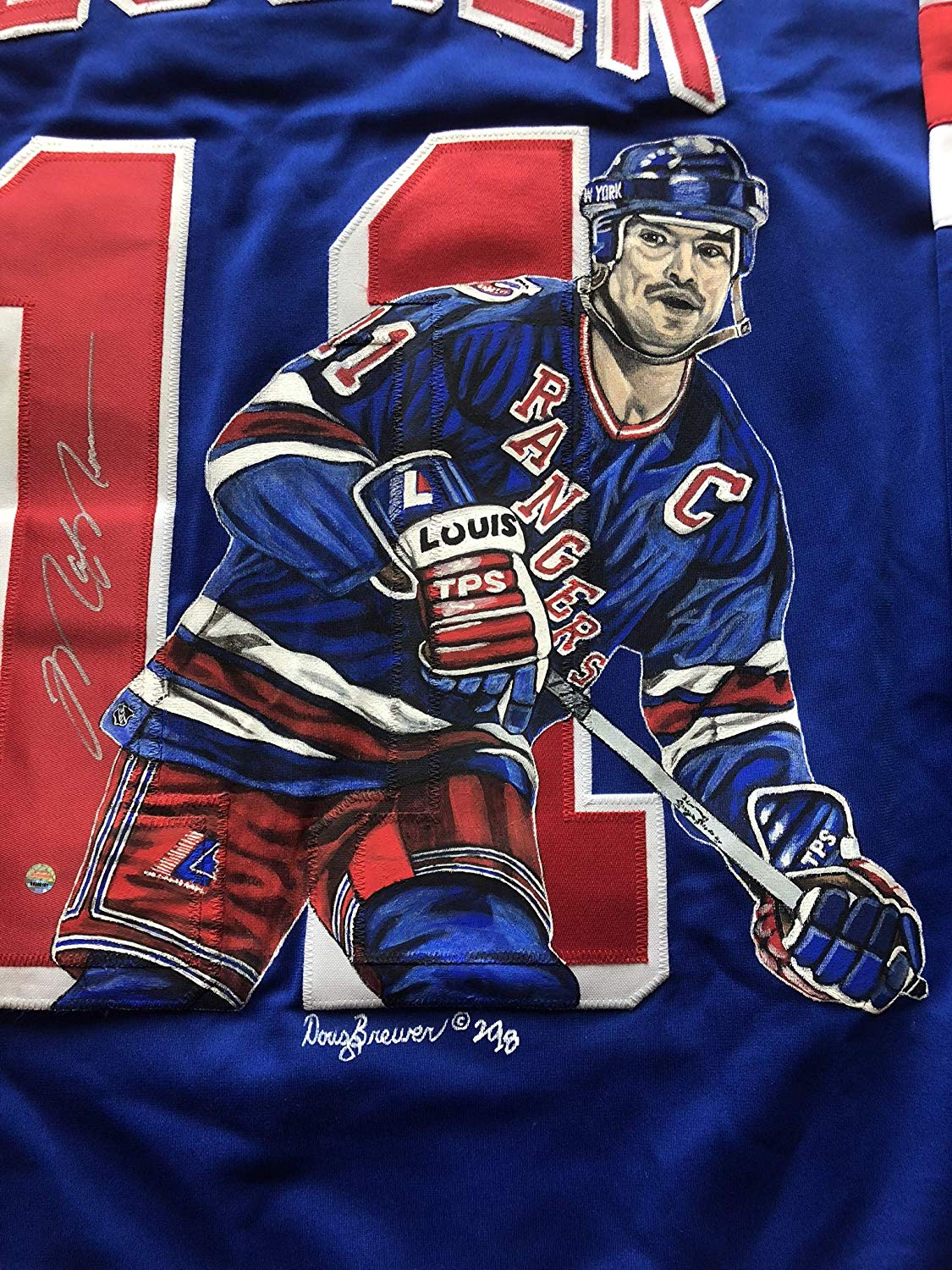 the latest 89fc9 a805c Mark Messier autographed jersey New York Rangers Steiner ...