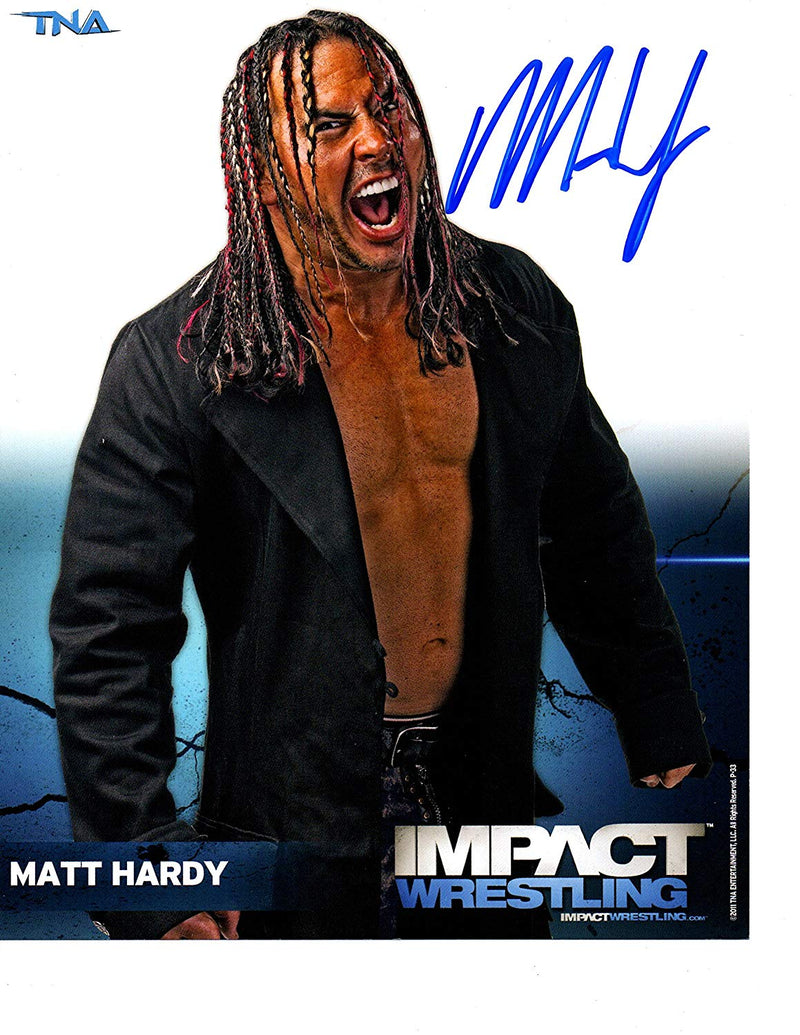 WWE Superstar Matt Hardy signed 8x10 photo - JAG Sports Marketing