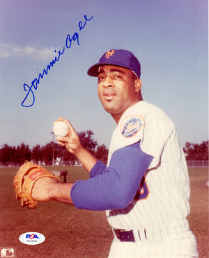 Tommie Agee autographed signed 8x10 photo MLB New York Mets PSA COA - JAG Sports Marketing