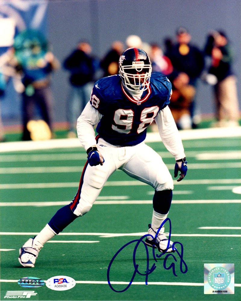 Jessie Armstead autographed signed 8x10 photo NFL New York Giants PSA COA - JAG Sports Marketing