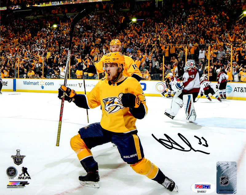 Viktor Arvidsson autographed signed 8x10 photo NHL Nashville Predators PSA COA - JAG Sports Marketing