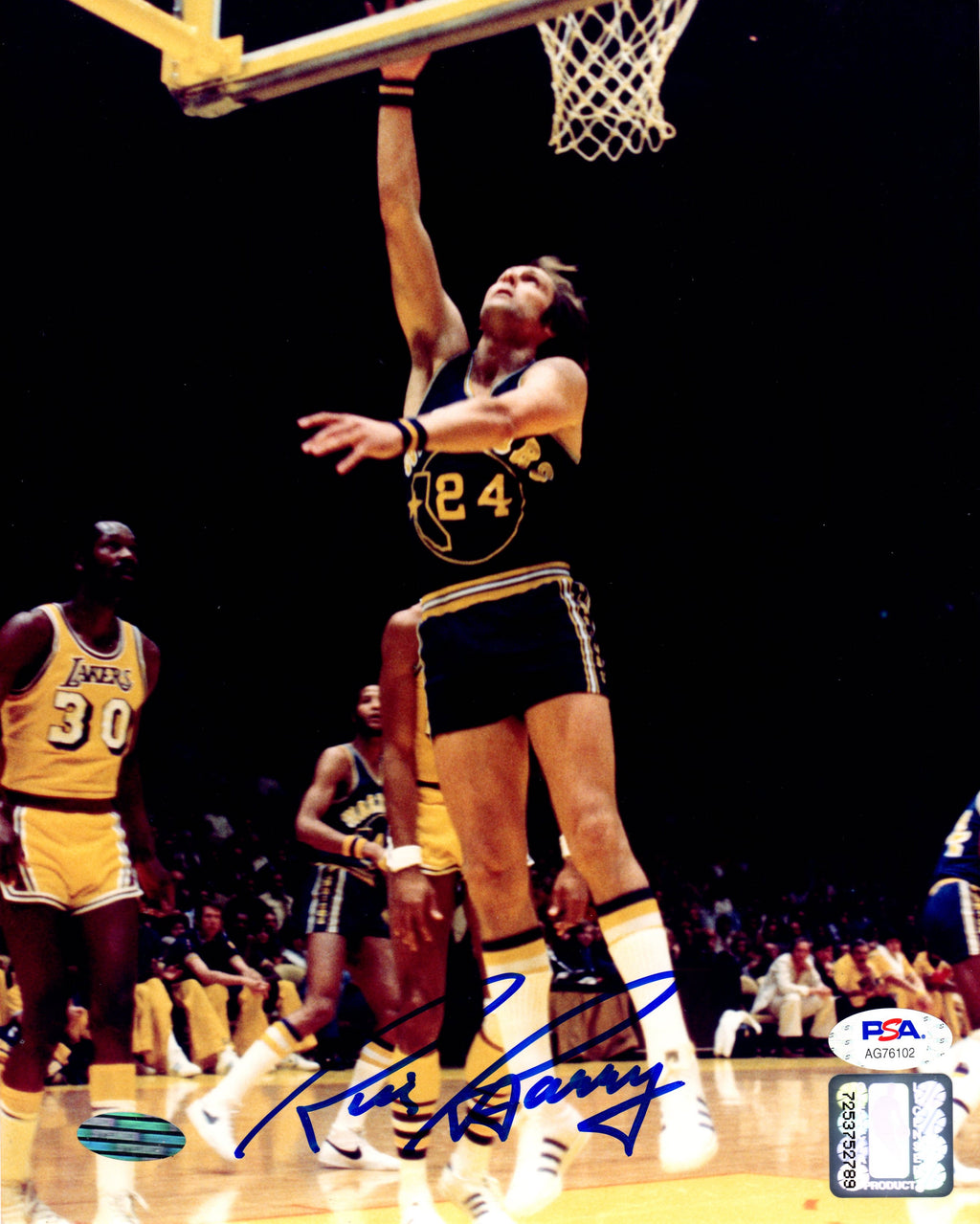 Rick Barry autographed signed 8x10 photo NBA Los Angeles Lakers PSA COA - JAG Sports Marketing