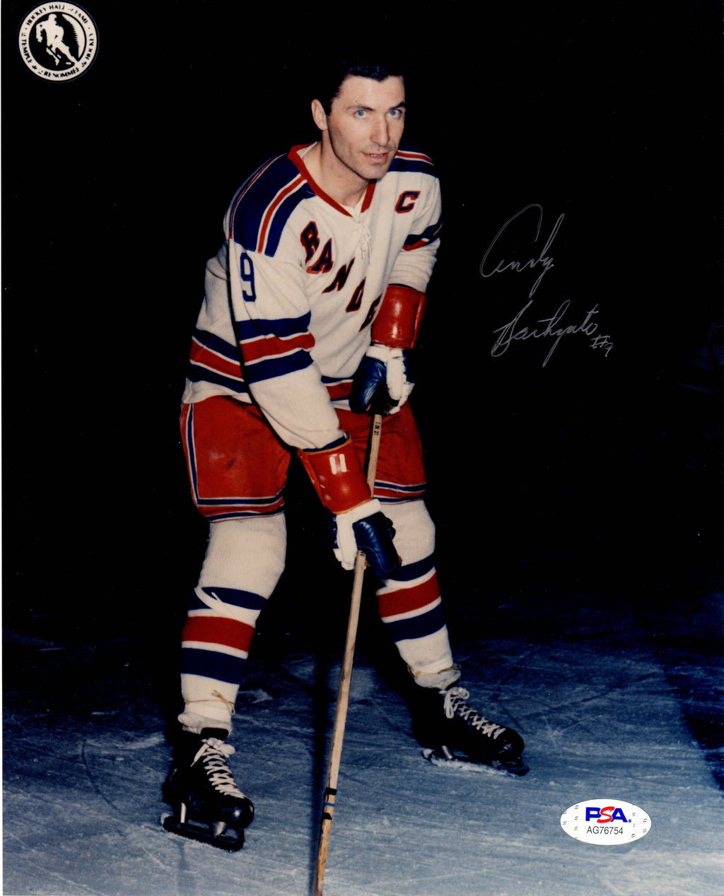 Andy Bathgate autographed signed 8x10 photo NHL New York Rangers PSA COA - JAG Sports Marketing