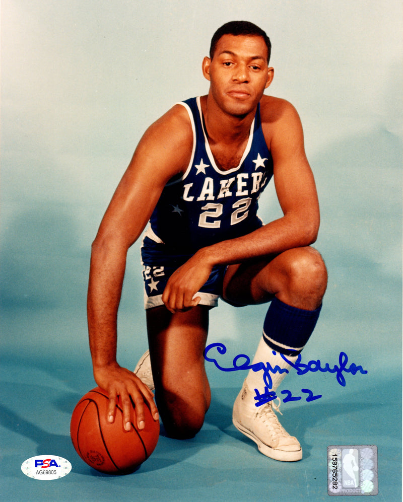 Elgin Baylor autographed signed 8x10 photo NBA Los Angeles Lakers PSA COA - JAG Sports Marketing