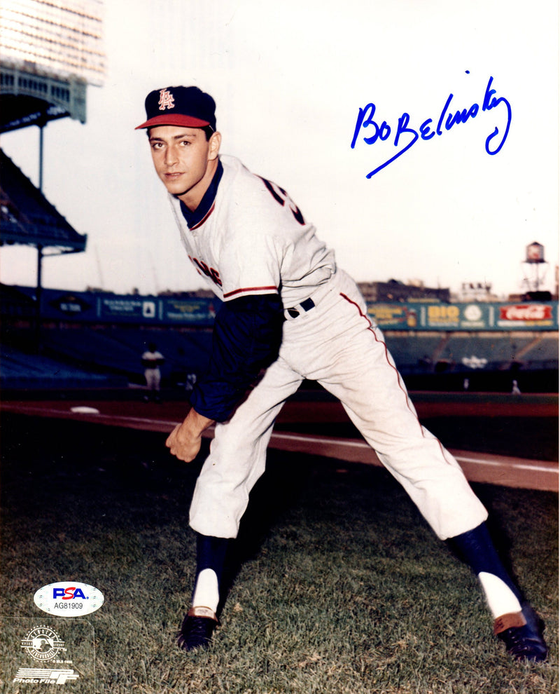 Bo Belinsky autographed signed 8x10 photo MLB Los Angeles Angles PSA COA - JAG Sports Marketing