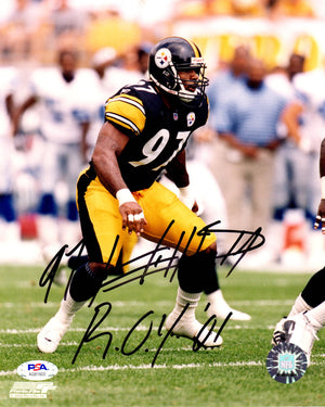 Kendrell Bell autographed signed inscribed 8x10 photo Pittsburgh Steelers PSA - JAG Sports Marketing