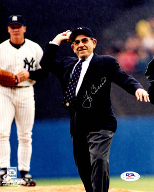 Yogi Berra autographed signed 8x10 photo MLB New York Yankees PSA COA WS Champ - JAG Sports Marketing