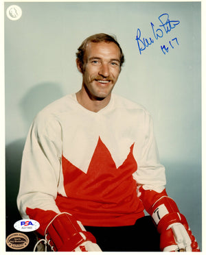 Bill White autographed signed 8x10 photo NHL Chicago Blackhawks PSA COA Canada - JAG Sports Marketing