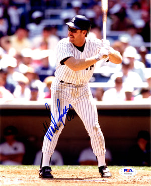 Wade Boggs autographed signed 8x10 photo MLB New York Yankees PSA COA - JAG Sports Marketing