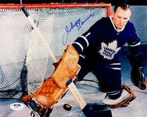 Johnny Bower autographed signed 8x10 photo NHL Toronto Maple Leafs PSA COA - JAG Sports Marketing