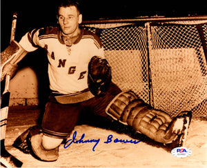 Johnny Bower autographed signed 8x10 photo NHL New York Rangers PSA COA - JAG Sports Marketing