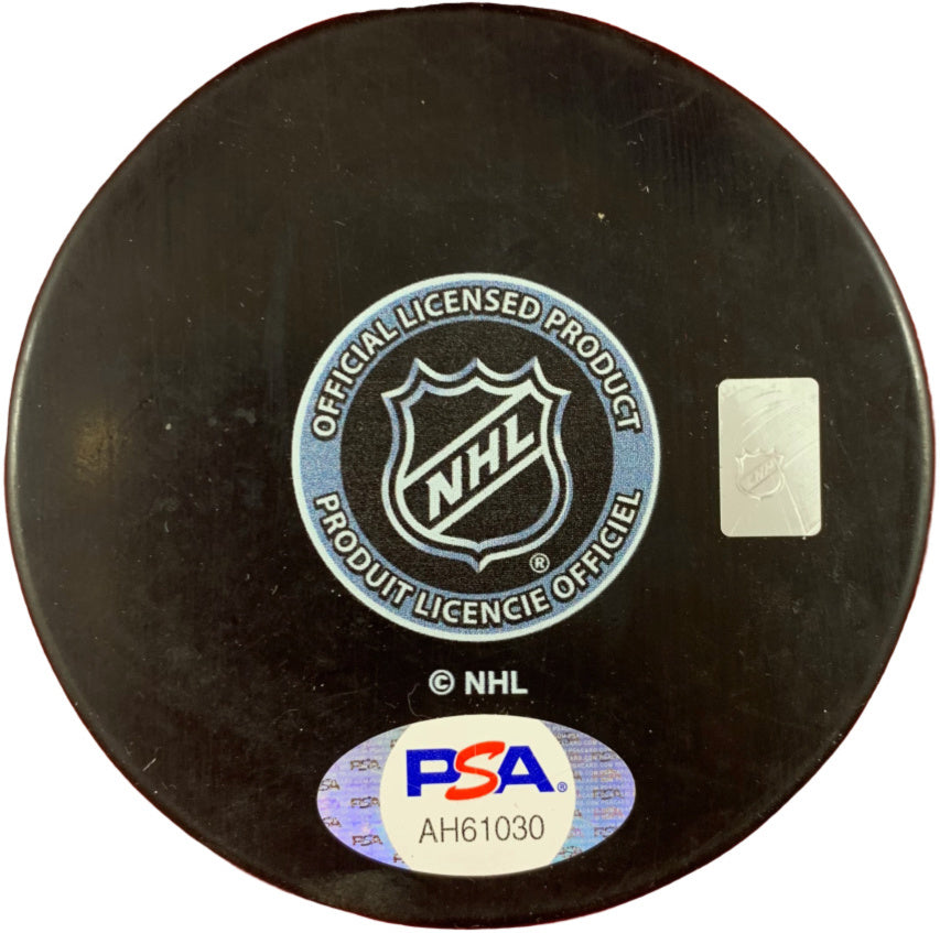 Ian Cole autographed signed inscribed puck NHL Pittsburgh Penguins PSA COA