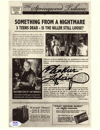 Heather Langenkamp autograph signed 8x10 movie newspaper Nightmare on Elm St PSA - JAG Sports Marketing