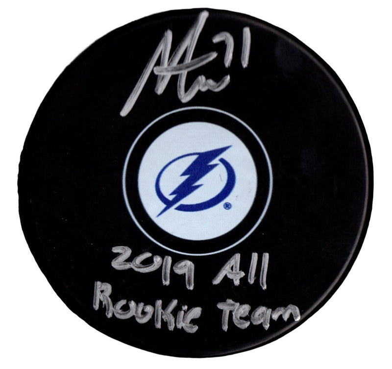 Anthony Cirelli autographed signed inscribed puck NHL Tampa Bay Lightning PSA - JAG Sports Marketing