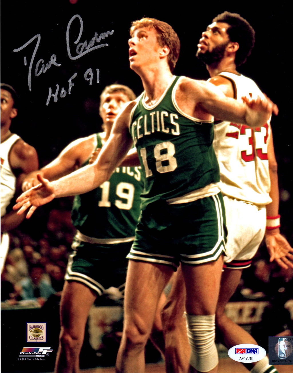Dave Cowens signed inscribed 8x10 NBA Boston Celtics PSA HOF