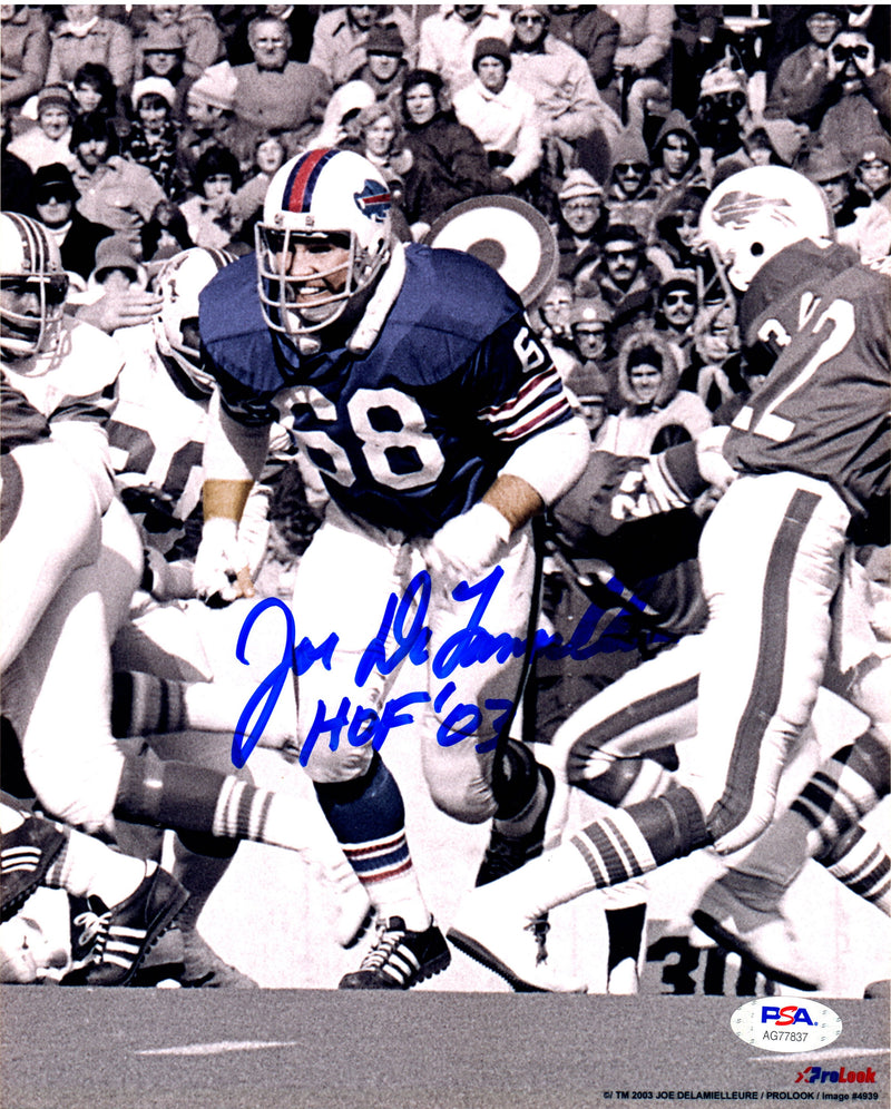 Joe Delamielleure autographed signed inscribed 8x10 photo Buffalo Bills PSA COA - JAG Sports Marketing