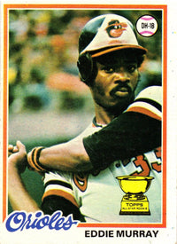 1978 Topps Eddie Murray Rookie Card #36 Baltimore Orioles - JAG Sports Marketing
