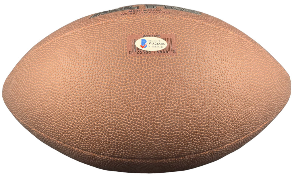 Frank Clark autographed signed inscribed football Kansas City Chiefs Beckett - JAG Sports Marketing