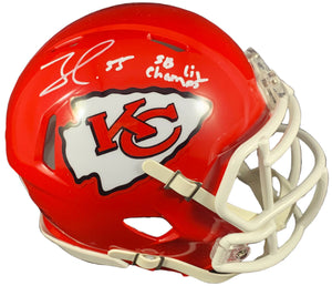 Frank Clark autographed signed inscribed mini helmet Kansas City Chiefs Beckett