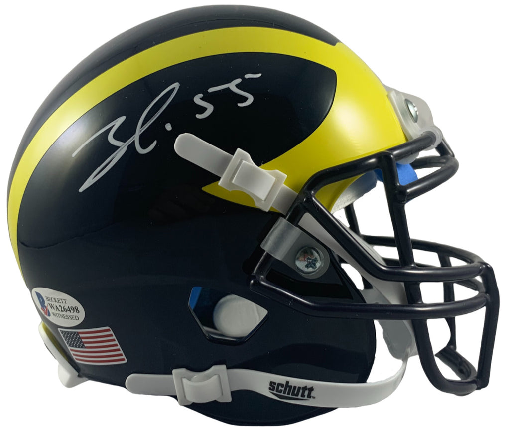 Frank Clark autographed signed mini helmet NCAA Michigan Wolverines Beckett