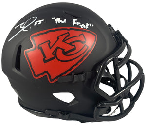Frank Clark autographed signed inscribed Eclipse mini helmet Kansas City Chiefs Beckett - JAG Sports Marketing