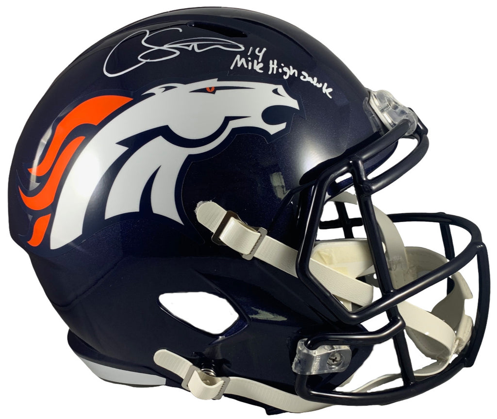 Courtland Sutton autograph signed inscribed Full Size Helmet Denver Broncos PSA