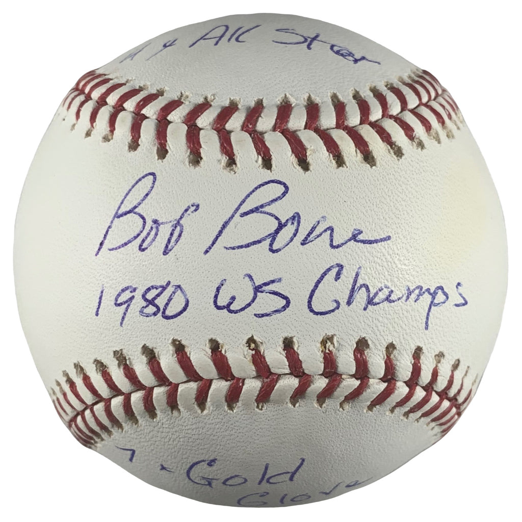 Bob Boone autographed signed inscribed baseball MLB Philadelphia Phillies PSA