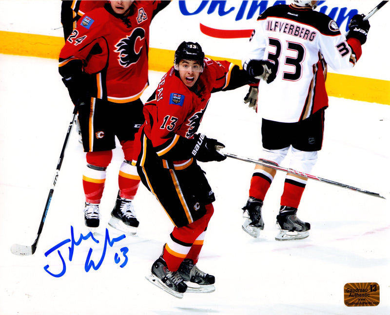 Johnny Gaudreau signed 8x10 photo Calgary Flames Johnny Gaudreau Player Hologram - JAG Sports Marketing