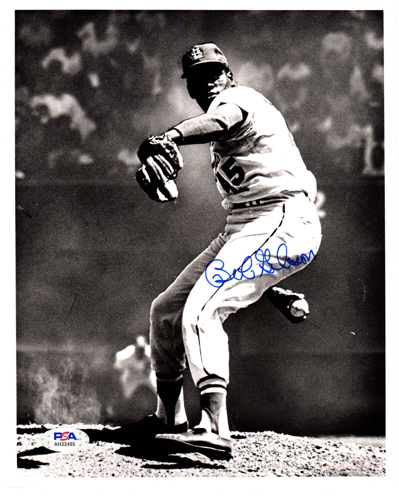 Bob Gibson autographed signed 8x10 photo MLB St. Louis Cardinals PSA COA - JAG Sports Marketing