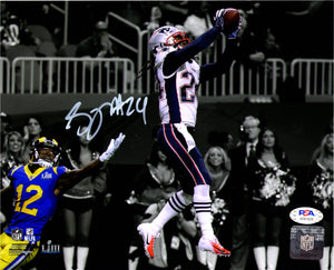 Stephon Gilmore autographed signed 8x10 photo New England Patriots PSA COA - JAG Sports Marketing