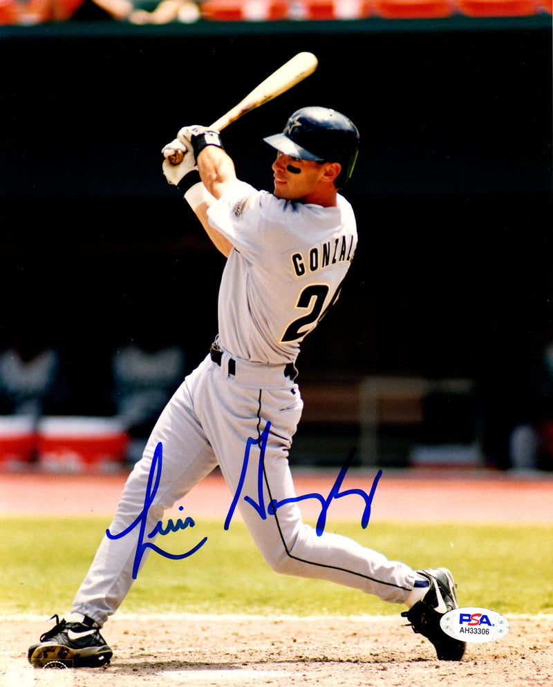 Luis Gonzalez autographed signed 8x10 photo MLB Houston Astros PSA COA - JAG Sports Marketing