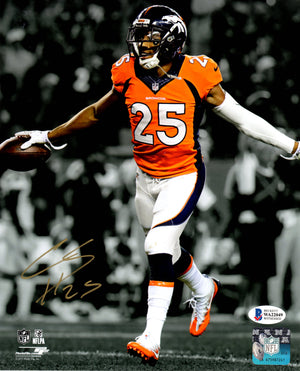 Chris Harris Jr. autographed signed 8x10 photo NFL Denver Broncos Beckett COA - JAG Sports Marketing