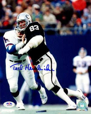 Ted Hendricks autographed signed 8x10 photo NFL Oakland/Los Angeles Raiders PSA - JAG Sports Marketing