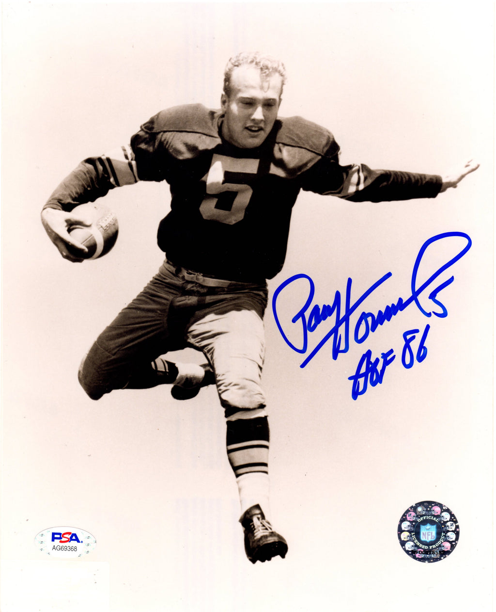 Paul Hornung autographed signed inscribed 8x10 photo NFL Green Bay Packers PSA
