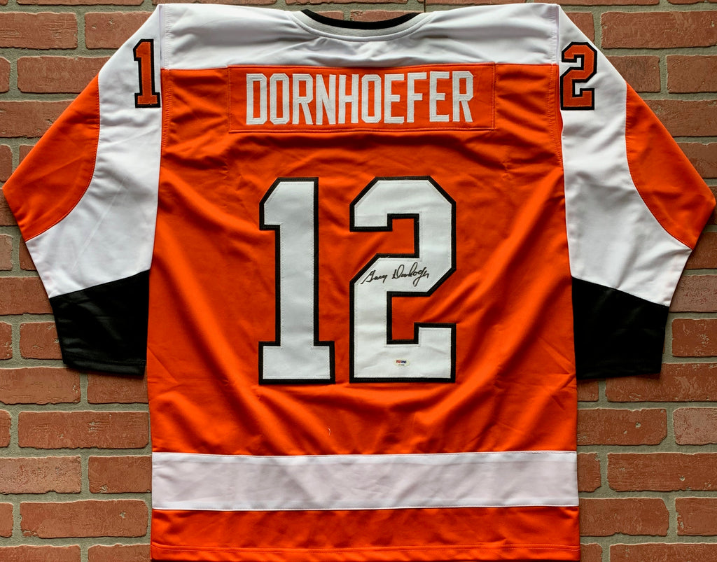 Gary Dornhoefer autographed signed jersey NHL Philadelphia Flyers PSA w/ COA - JAG Sports Marketing