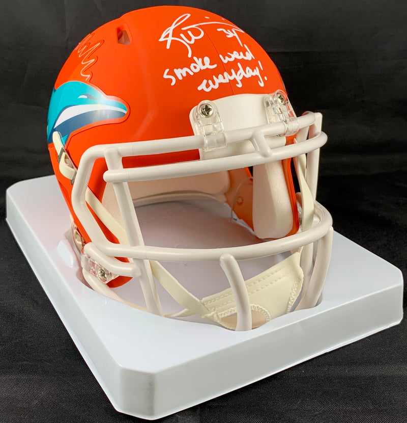 Ricky Williams autographed signed inscribed AMP Mini Helmet Miami Dolphins JSA - JAG Sports Marketing