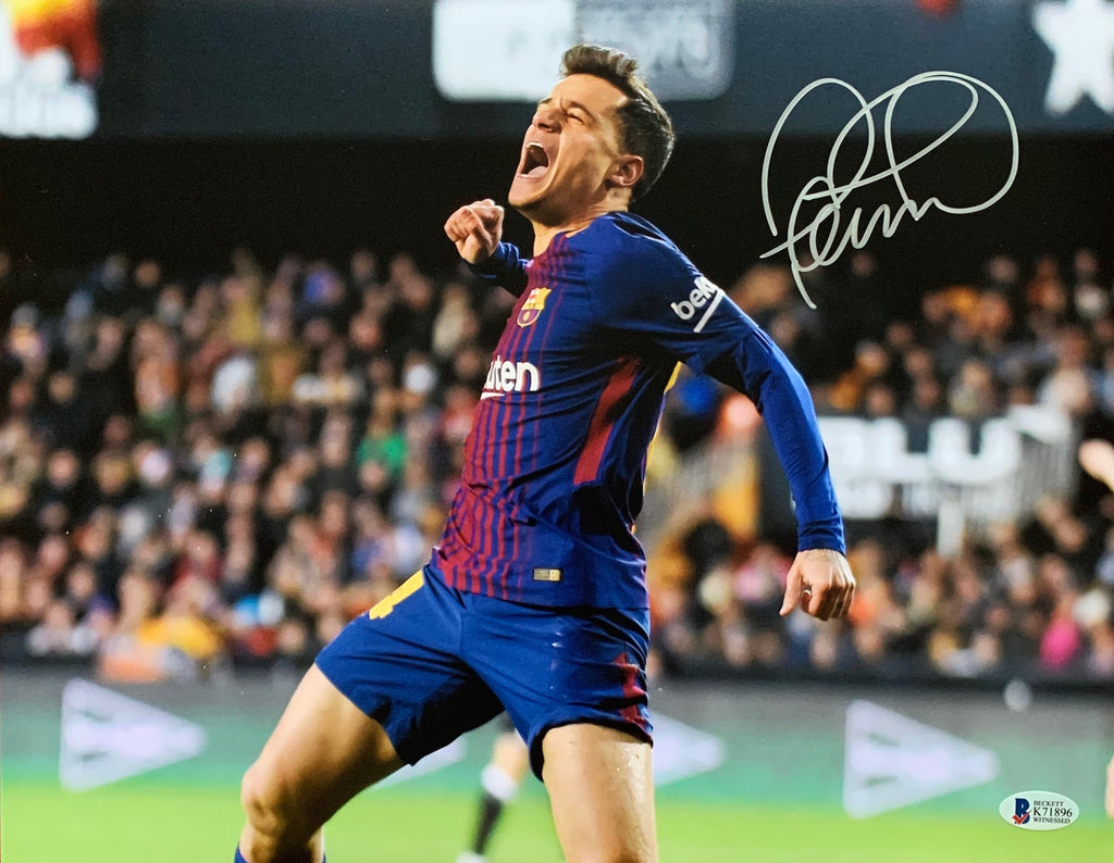 Philipe Coutinho autographed signed 11x14 Barcelona Beckett COA - JAG Sports Marketing