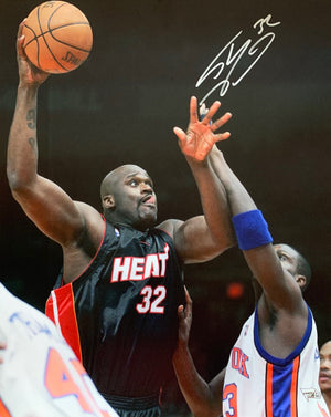 Shaquille O'neal autographed signed 16x20 photo NBA Miami Heat Fanatics HOF Shaq - JAG Sports Marketing
