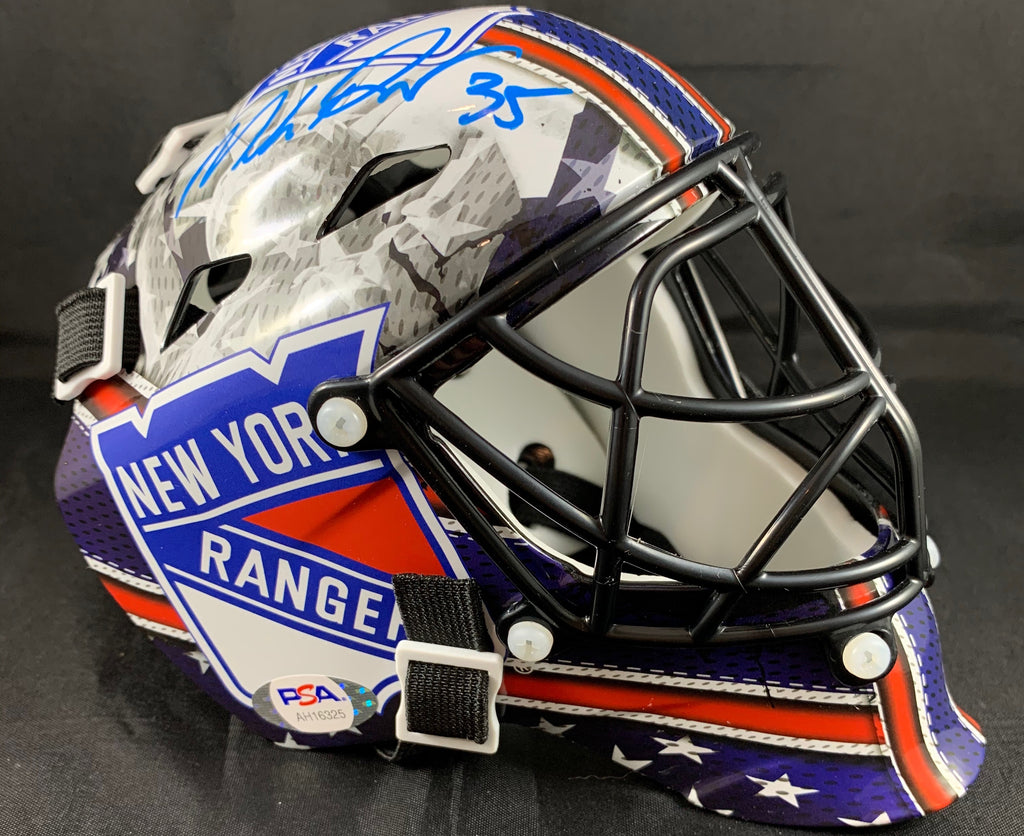 Mike Richter autographed signed Mini Mask NHL New York Rangers PSA COA - JAG Sports Marketing